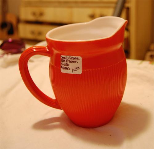 Vintage depression glass creamer/pitcher