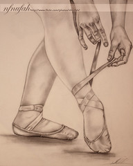 ballet dancer <3 (nfnufah! ) Tags: ballet 3 art feet girl pencil dance hands legs drawing lovely fabercastell   gettingreadytodance ilovetodraw nfnufah