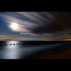K20D2966 (Bob West) Tags: longexposure nightphotography moon ontario beach night clouds lakeerie greatlakes moonlight nightshots startrails southwestontario bobwest k20d pentax1224 oldretainingwall