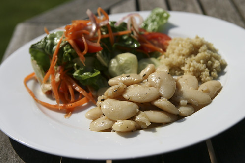 Lunch: Bean Salad, Green Salad and Quinoa
