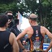 Vancouver Triathlon - Olympic Overall Winner Andrew Russell and 2nd Place Mike Neill @ Finish Line