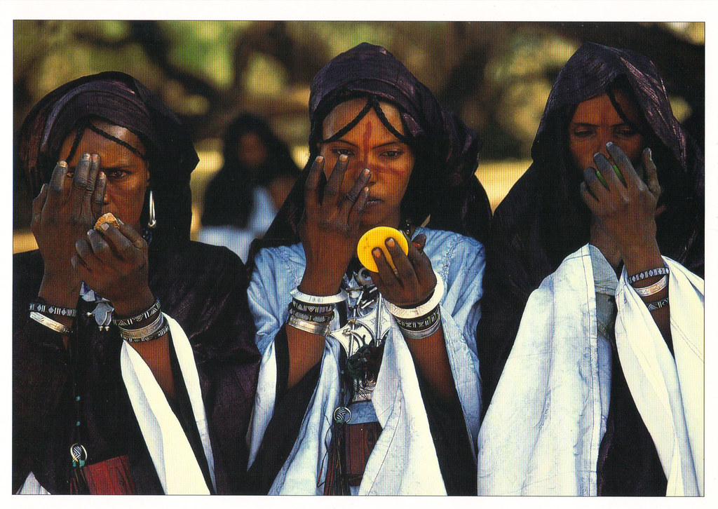 Tuareg Wedding Guests Postcard