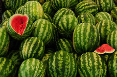 World's Best Water Melons (christian.senger) Tags: travel red food green fruit digital turkey geotagged nikon asia market watermelon explore marketplace bazaar abundance denizli d300 nikoncapturenx2 christian_senger:year=2009