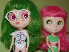 Do my new glasses make me look smarterer? (knitting barista) Tags: love quinn blythe gypsy ih daibimsrhybrid squirreljunkies