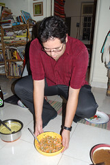 Fabio serves a salad