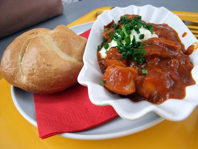 Maggie's Curry Wurst with Chakalaka Sauce