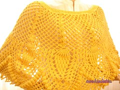 Citrine ,Harvest tones crochet poncho (cookieletta) Tags: scarf handmade rustic crochet harvest scorpion mustard accessories shawl poncho citrine fallfashion autumngold isotteam