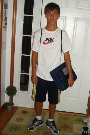 Andrew First Day of School