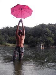 something ephemeral (~ misShadow ~) Tags: lake alex umbrella awesome hehe wooow pinkrocks