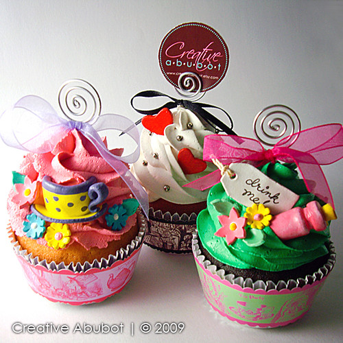 Alice in Wonderland Faux Cupcakes