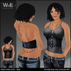 WoE UB-01e Denim Waist Cinch - Steel