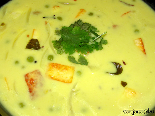 Peas and Paneer Kadhi (Indian Yogurt Soup) 2
