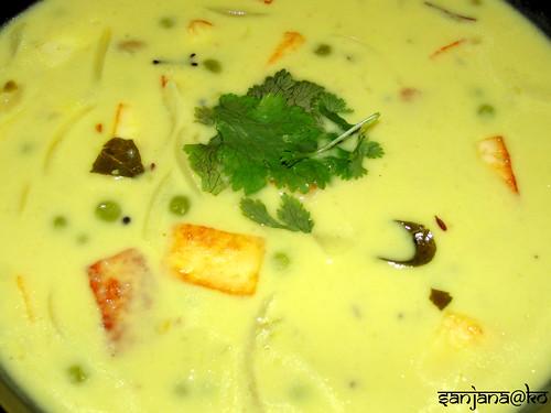 Peas and Paneer Kadhi (Indian Yogurt Soup) 2