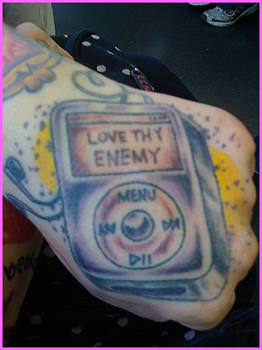 iPod tattoo