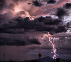 Out of the Blue (Eye of the Storm Photography) Tags: night lightning monsoonstorms luckyorgood