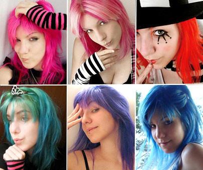 cabelos coloridos fotos