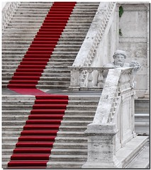 The red stair carpet (Nespyxel) Tags: red rome roma lines architecture carpet stair ss steps scala marble rosso architettura stefano campidoglio sindaco guida geometrie marmo linee gradini scalini tappeto comune challengeyouwinner nespyxel stefanoscarselli pleasedontusethisimageonwebsitesblogsorothermediawithoutmyexplicitpermissionallrightsreserved pleasedontusethisimageonwebsites blogsorothermediawithoutmyexplicitpermissionallrightsreserved