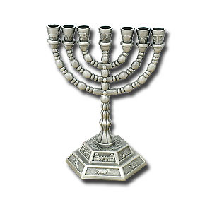 7 branches Menorah Pewter 12 Tribes 5 | Flickr - Photo Sharing!