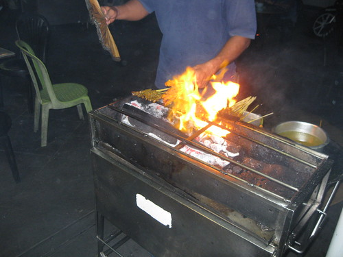 Our Satay being cooked