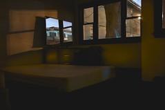 reflections on a dark place (n+s) Tags: longexposure night dark hotel mirror construction moody loneliness shadows motel holidayinn mattress condominium creep urbex seedy