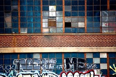 62nd St Graff (OnTheReal) Tags: old nyc me brooklyn graffiti moody warehouse 1990s alert