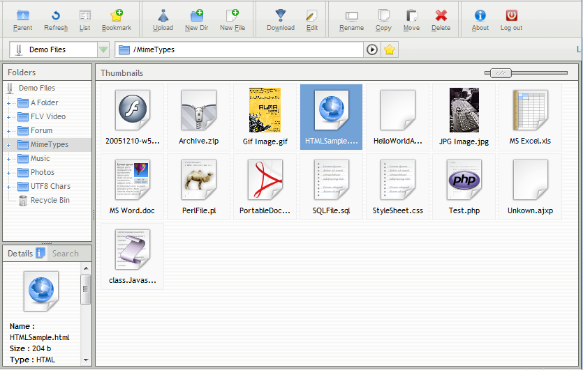 AjaXplorer file browser