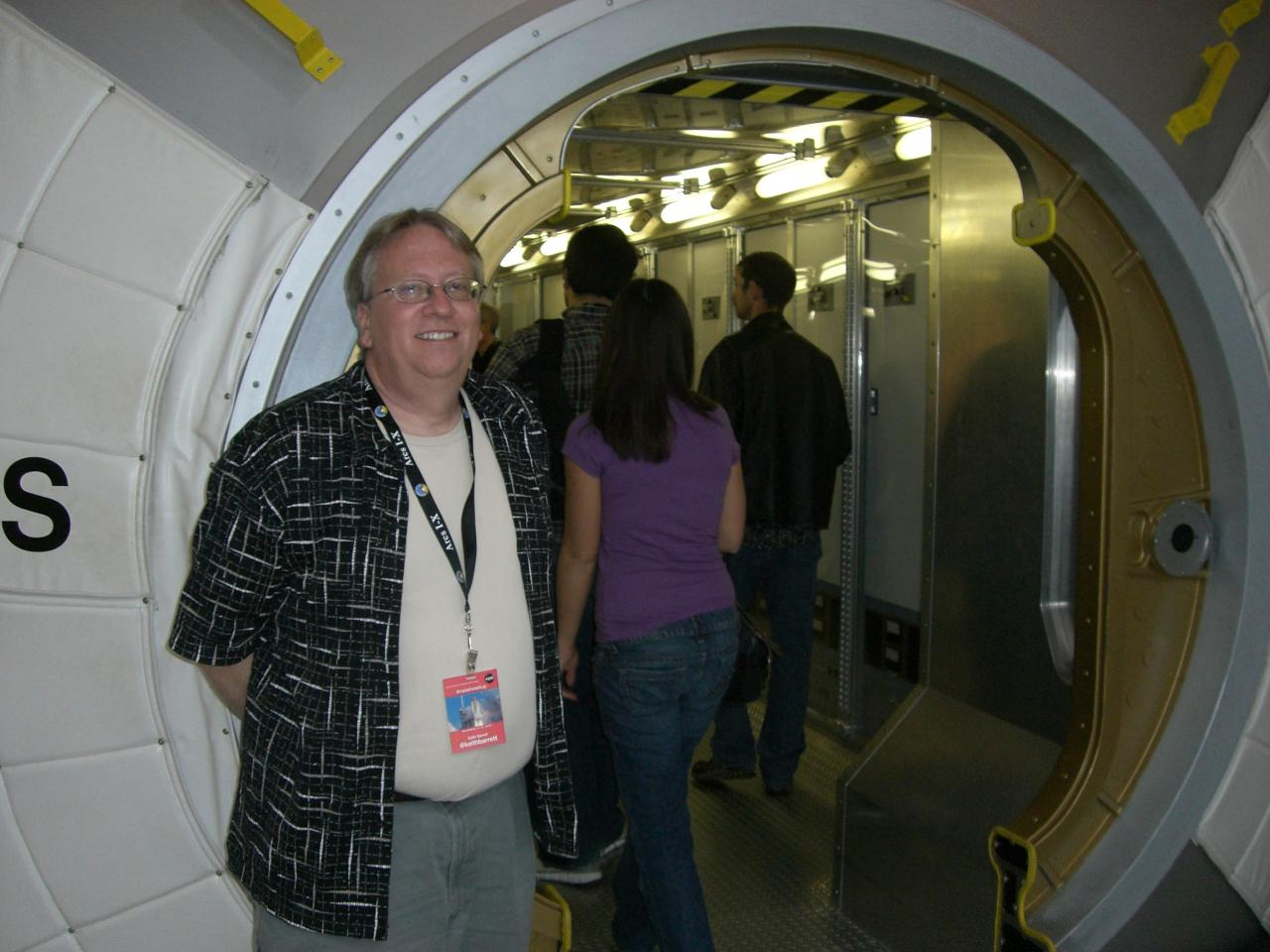 Keith Barrett at NASA STS-129 TweetUp