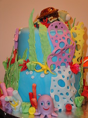 Finding Nemo Cake (Cuppie Cakes (Moved to FL, back in the game now)) Tags: ocean sea fish water coral jellyfish underwater clown anemone squirt reef dori findingnemo