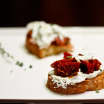 Goat Cheese Crostini with Sun Dried Tomato Jam