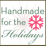 handmade for the holidays button