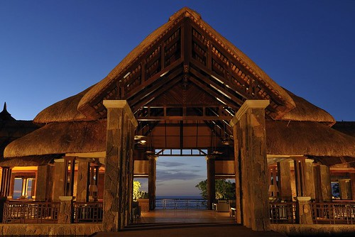 Hotel Entrance Night - The Grand Mauritian Resort & Spa, Mauritius, Ile Maurice