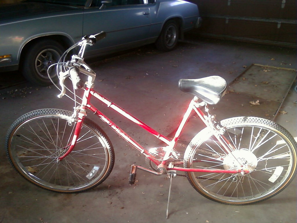 The new red bike is red!