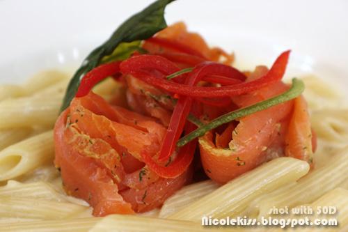 salmon penne pasta