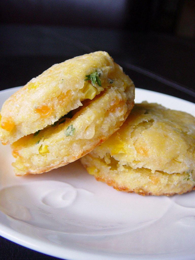 Corn Cakes and Jalapeno Chive Butter