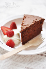 Moelleux au chocolat (*steveH) Tags: food cake fruit dessert strawberry chocolate cream explore raspberry moelleux steveh