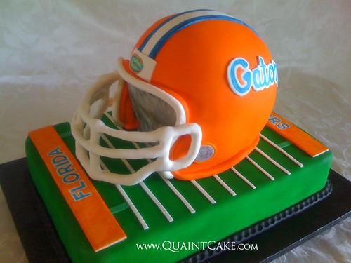 Gator Helmet Cake