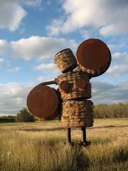Makin' Hay at the Missions by Tom Otterness (ScottOMonaco) Tags: sculpture sanantonio texas steel mission hay sculptor tomotterness missionsanjuan missiontrail thegleaners makinhay françoismillet alturasfoundation sanantonioriverimprovementsproject publicartsanantonio missionsanjuandecapistrano