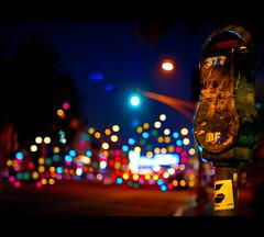 """and it was up, up and away."" (red.dahlia) Tags: city colors beauty lights losangeles colorful nikond50 explore bluehour parkingmeter lightroom melroseave arcticmonkeys 35mmf18 edhardy fairfaxave mardybum musicallychallenged anditwasupupandaway ithinkimgoingtodoaparkingmeterserieseitheritsthebestideaeverorlamestideaevereitherwilldo"