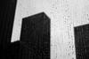 The city beyond the window (Airicsson) Tags: new york city nyc blackandwhite bw usa white ny newyork black blur building fall rain silhouette america skyscraper island lumix us drops noir bokeh manhattan moma drop falls nb panasonic midtown et blanc raindrop twop blackwhitephotos lx3