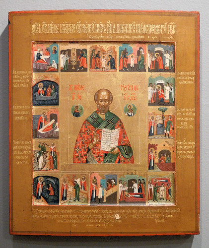Russian Icon, at the Saint Louis University Museum of Art, in Saint Louis, Missouri, USA - Saint Nicholas 2