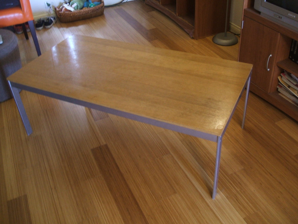 Ikea Wood and Metal Coffee Table