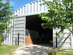 SteelMaster Metal Horse Barn
