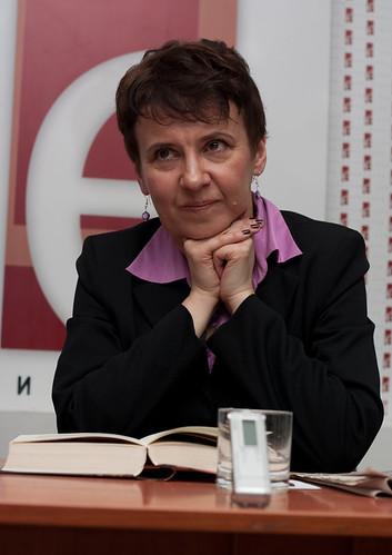 Оксана Забужко на презентації в книгарні Є