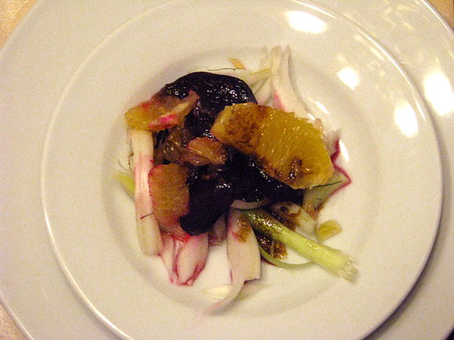 fennel, beet and orange salad