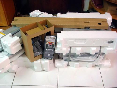 HT-SF360 開箱內部組件合照