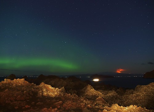 Northern lights and Eruption by diddý.