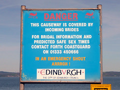 Cramond Tide (Little Boffin (PeterEdin)) Tags: city signs sign danger warning lumix scotland town edinburgh notice information notices warningsigns ecosse cramond dangersigns panasoniclumix cityofedinburgh edinburghcity dmctz3 tz3 panasonictz3 panasonicdmctz3 cityofedinburghcouncil thankyouforflickr noticesdanger