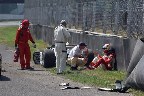 Accidente Adrián Campos Junior Monza