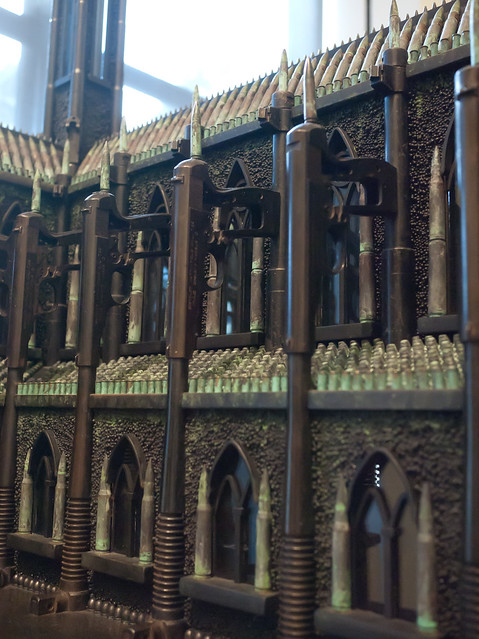 "Flying buttresses made of guns on ""The Spine and Tooth of Santo Guerro"""