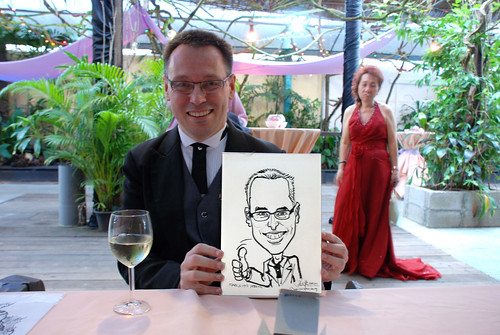 Caricature live sketching for Mark and Ivy's wedding solemization - 1
